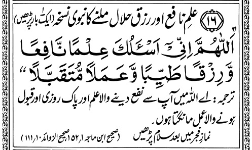 Dua for Halal Rizq